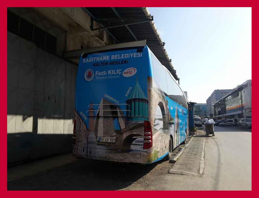 otobüs dijital baskı